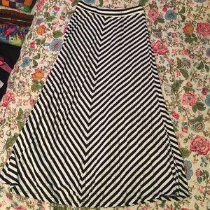 Sweet Salt Chevron Maxi Skirt